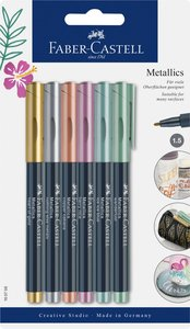 Faber-Castell Metallic Marker 6er Blisterkarte
