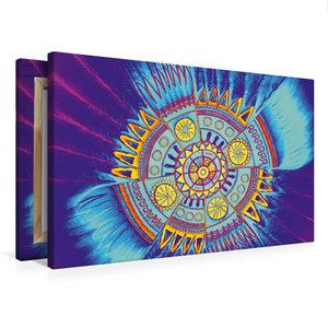 Premium Textil-Leinwand 75 cm x 50 cm quer Indian Spirit