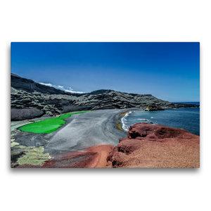 Premium Textil-Leinwand 75 cm x 50 cm quer Lanzarote - Meisterwe
