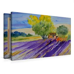 Premium Textil-Leinwand 75 cm x 50 cm quer Provence