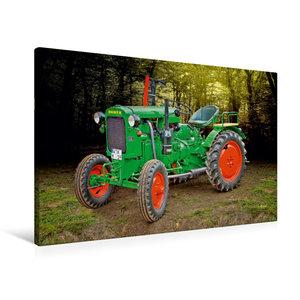 Premium Textil-Leinwand 90 cm x 60 cm quer Oldtimer Traktor Deut
