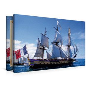 Premium Textil-Leinwand 90 cm x 60 cm quer Fregatte Hermione
