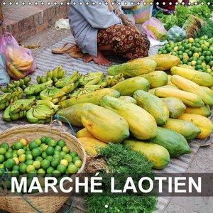 Marché laotien (Calendrier mural 2015 300 × 300 mm Square)