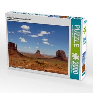Wildcat Trail im Monument Valley 2000 Teile Puzzle quer