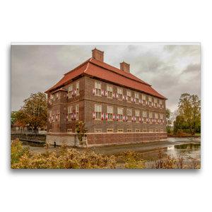 Premium Textil-Leinwand 75 cm x 50 cm quer Schloss Oberwerries i