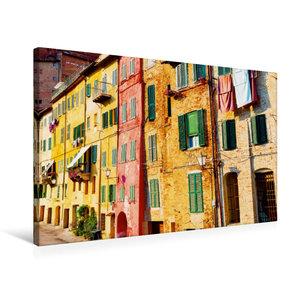 Premium Textil-Leinwand 75 cm x 50 cm quer Bunte Häuser