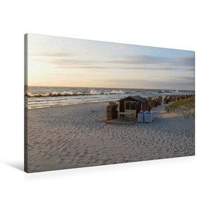 Premium Textil-Leinwand 90 cm x 60 cm quer Strand bei Wustrow (F