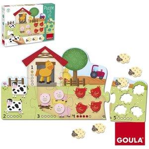 Goula Puzzle 1-5 21-teilig