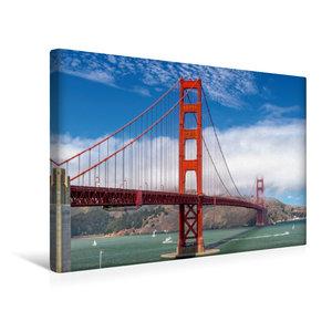 Premium Textil-Leinwand 45 cm x 30 cm quer Golden Gate in San Fr
