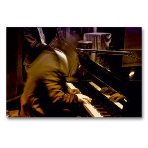 Premium Textil-Leinwand 90 cm x 60 cm quer Klavier Solo für zehn
