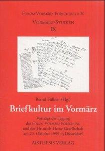 Briefkultur im Vormärz