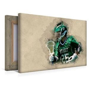 Premium Textil-Leinwand 45 cm x 30 cm quer Lacrosse