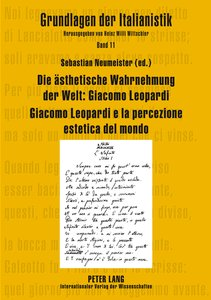 Die ästhetische Wahrnehmung der Welt: Giacomo Leopardi . Giacom