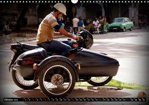Motorrad-Gespanne in Kuba (Wandkalender 2019 DIN A3 quer)