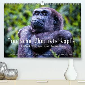 Tierische Charakterköpfe(Premium, hochwertiger DIN A2 Wandkalend