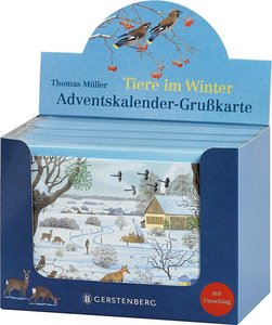 VE Tiere im Winter Adventskalender-Grußkarten 20 Ex.