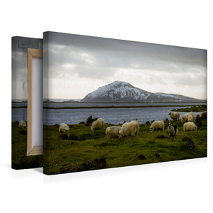 Premium Textil-Leinwand 45 cm x 30 cm quer Mývatn
