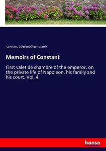 Memoirs of Constant