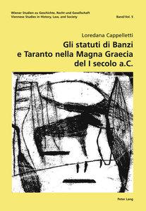 Gli statuti di Banzi e Taranto nella Magna Graecia del I secolo