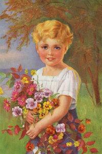 Premium Textil-Leinwand 30 cm x 45 cm hoch Blumenkind