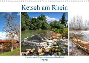 Ketsch am Rhein (Wandkalender 2020 DIN A3 quer)