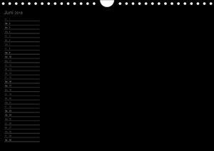 Bastel-Geburtstagskalender schwarz / Geburtstagskalender