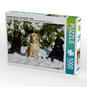 Labrador Retriever - Freunde für´s Leben 1000 Teile Puzzle quer