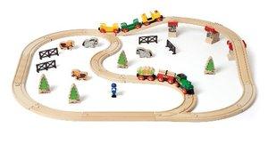 Brio 33188 - Großes Country Bahn Set, 50 Teile