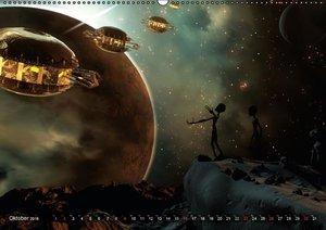 Galaktische TraumweltenAT-Version (Wandkalender 2016 DIN A2 quer