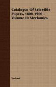 Catalogue Of Scientific Papers, 1800-1900 - Volume II