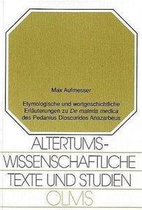 """Etymologische und wortgeschichtliche Erläerungen zu """"De materia"""
