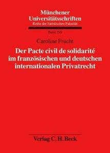 Der Pacte civil de solidarité im französischen und deutschen int