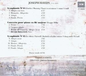 Sinfonien 44 & 45/Klavierkonzert D-Dur