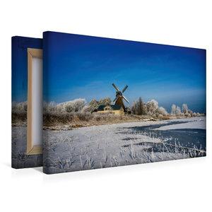 Premium Textil-Leinwand 45 cm x 30 cm quer Holländermühle Nicola