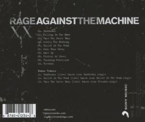Rage Against The Machine-XX (20th Anniversary Ed - zum Schließen ins Bild klicken