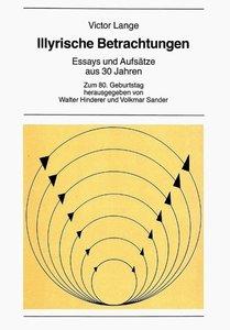 Illyrische Betrachtungen. Essays Und Aufsaetze Aus 30 Jahren: Zu