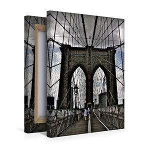 Premium Textil-Leinwand 30 cm x 45 cm hoch Brooklyn Bridge