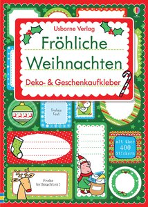 Fröhliche Weihnachten: Deko- & Geschenkaufkleber