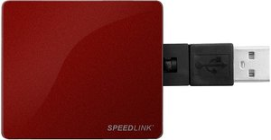 Speedlink SNAPPY USB-Hub (4-Port), rot