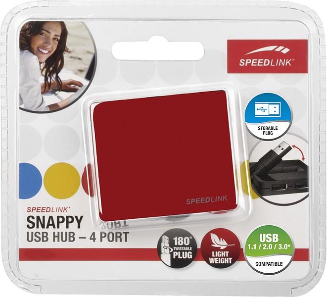 Speedlink SNAPPY USB-Hub (4-Port), rot - zum Schließen ins Bild klicken