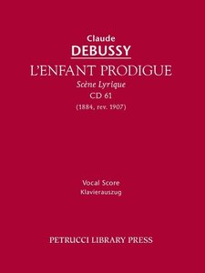 L'Enfant Prodigue, CD 61 - Vocal score