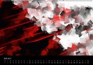 Digital Art in schwarz weiß rot
