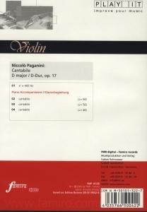 Cantabile, op. 17, D-Dur für Violine