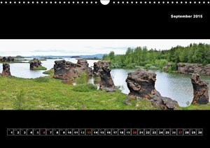 Iceland - Panoramic photographies (Wall Calendar 2015 DIN A3 Lan