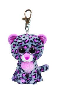 Tasha Clip-Leopard pink/grau, 8.5cm FIX3