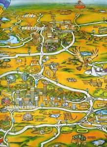 Gauteng Souvenir Map