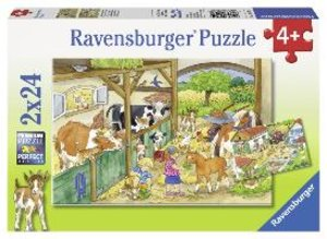 Ravensburger 09195 - Fröhliches Landleben, Puzzle, 2 x 24 Teile