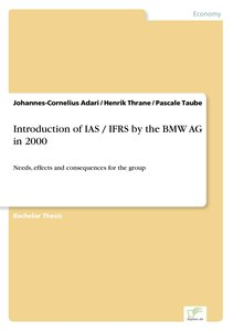 Introduction of IAS / IFRS by the BMW AG in 2000