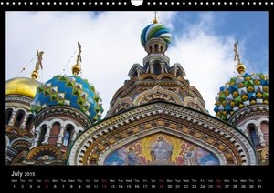 River Cruise Moscow to St. Petersburg (Wall Calendar 2015 DIN A3