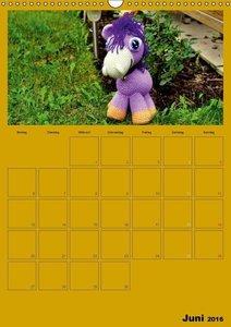 Welt der Häckelfiguren (Wandkalender 2016 DIN A3 hoch)